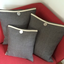 Heavy linen cushion